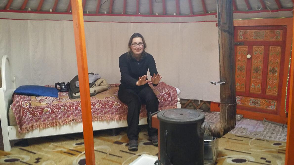 Slapen in een yurt