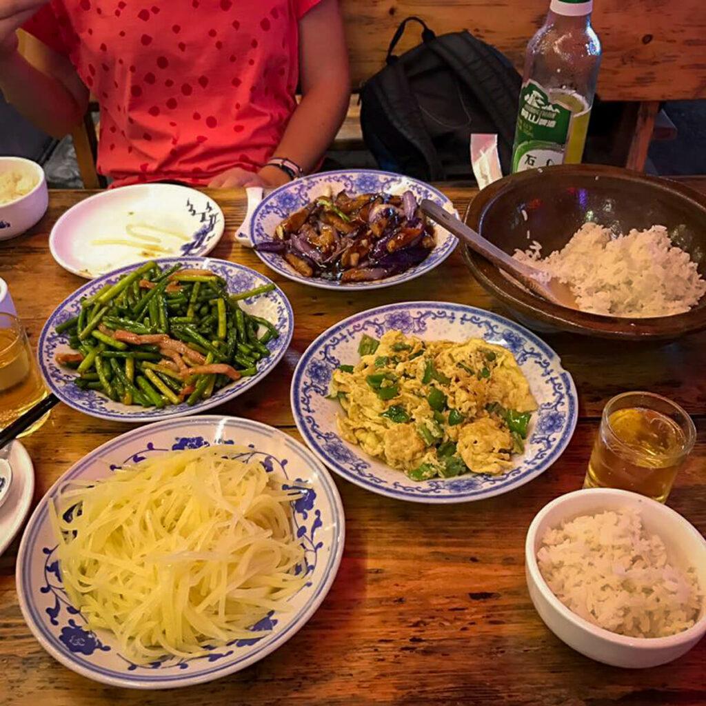 Verschillende gerechten in China