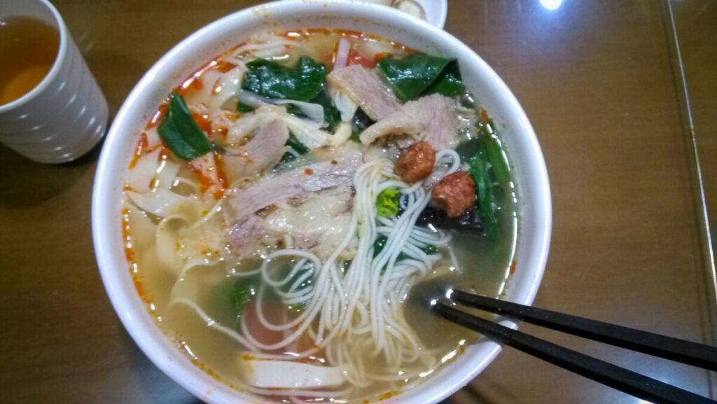 Eten in China, noedelsoep
