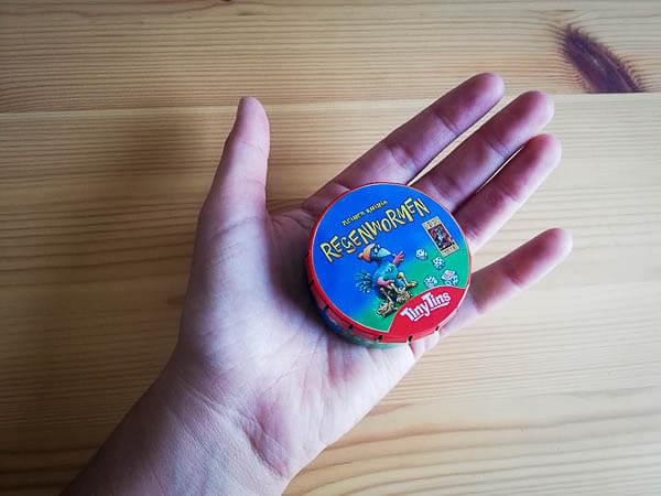 regen wormen, tiny tin