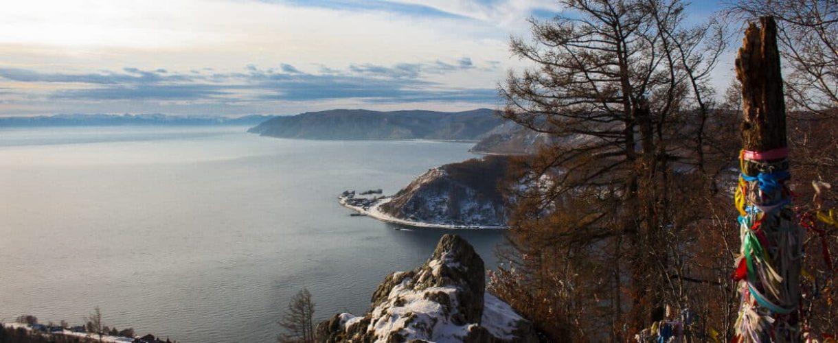 Uitzicht over baikalmeer